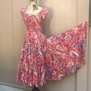 Sz S Chelsea & Theodore Very Full Peasant Dress